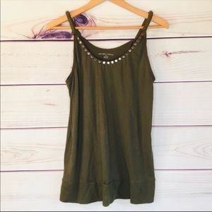 Olive Tank Top Boho Studded by New York & Co.